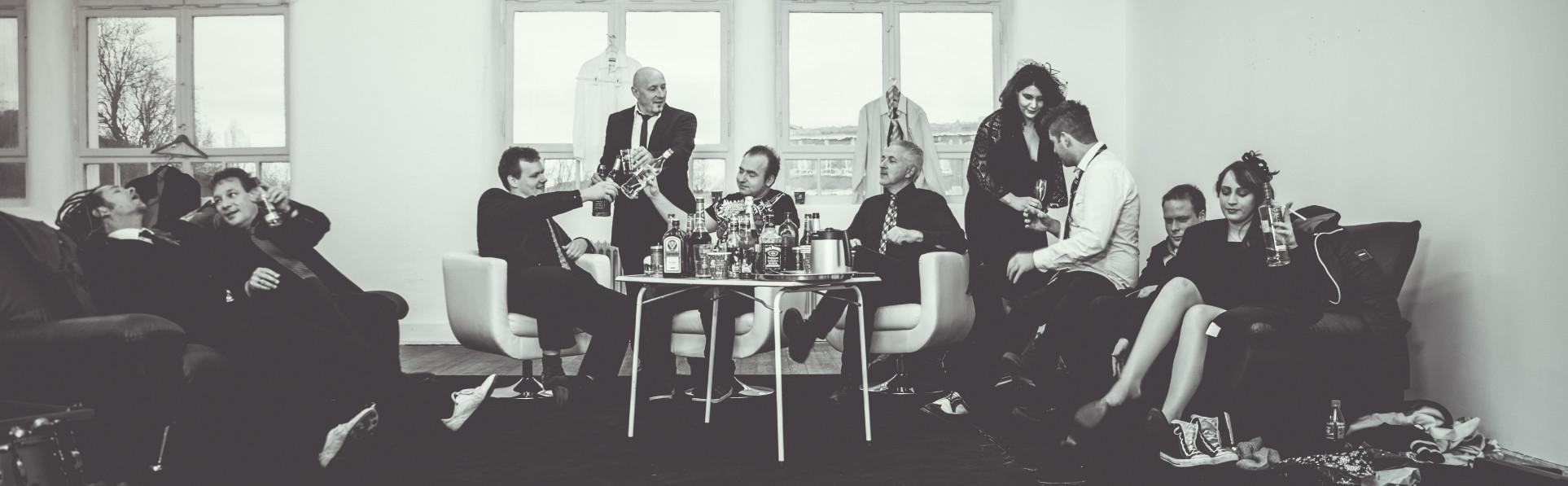 Die Luxusband Backstage - Fotoshooting